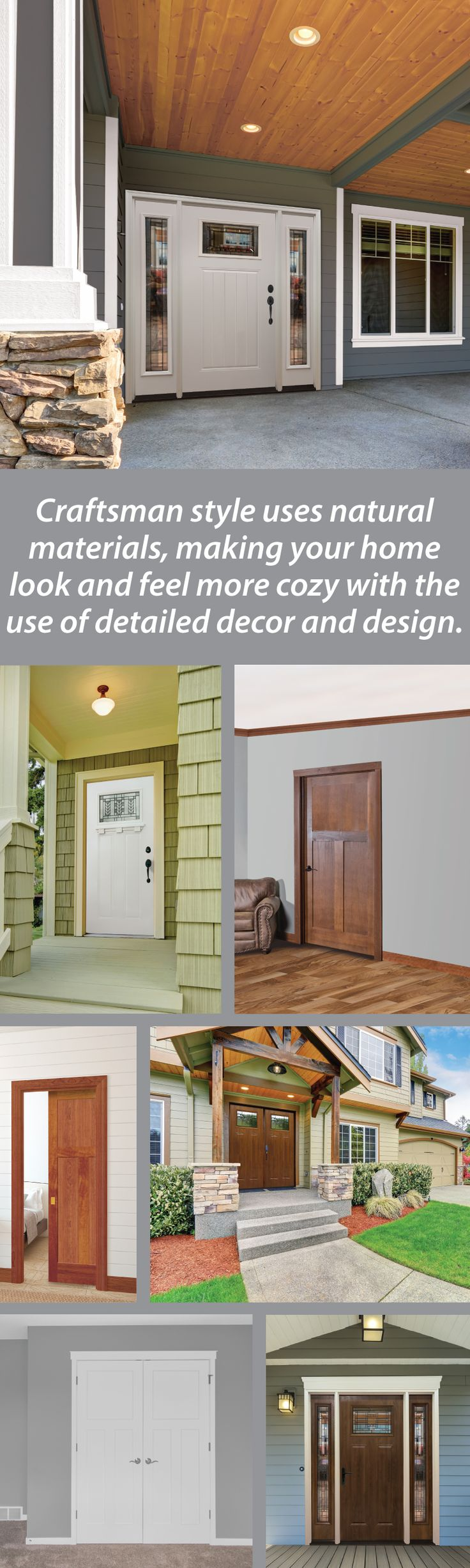 38 best interior doors images on pinterest interior doors add more detail to your craftsman home with our selection of mastercraft doors eventelaan Images