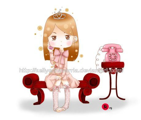 Princesa al telefono by KellyEchavarria.deviantart.com on @deviantART