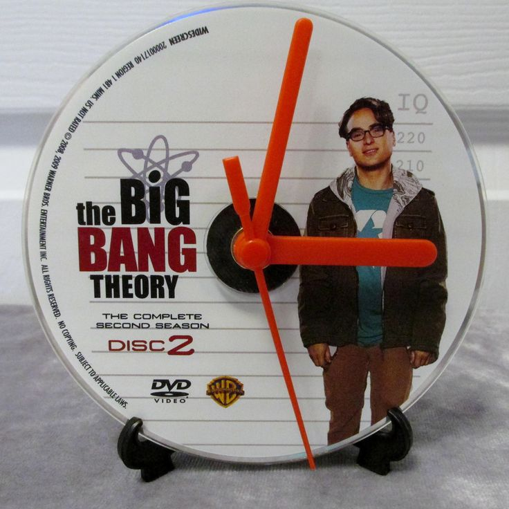 Big Bang Theory DVD Clock Upcycled TV Show - Leonard by DarkStormTV on Etsy