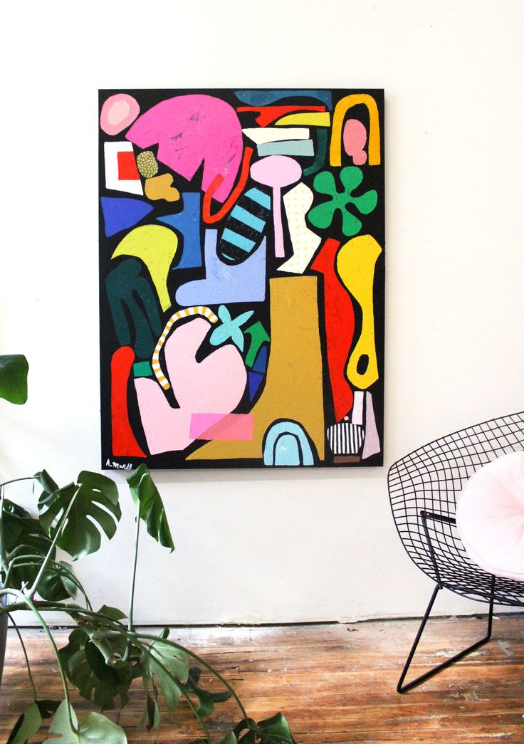 2018 — Ashley Mary Abstract art painting, Art, Modern
