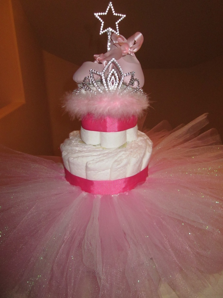 pink sparkles diaper tutu cake my baby shower gifts pinterest