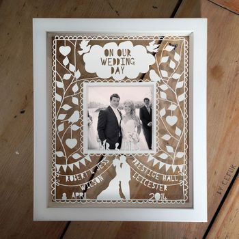 Personalised Instagram Photo Wedding Papercut - I love this!!