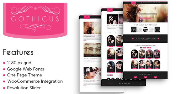 Gothicus – A One Page WooCommerce WordPress Theme (WooCommerce) Download