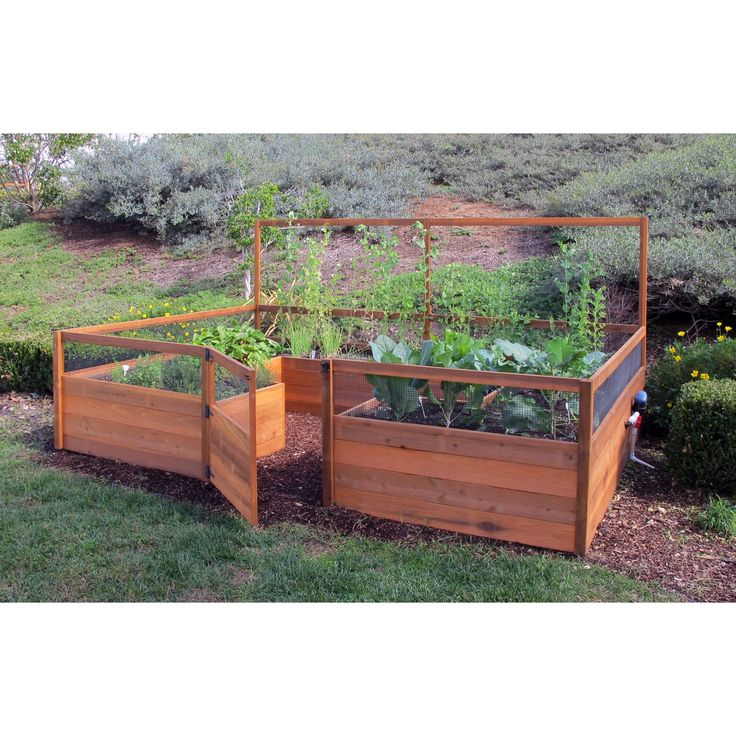 Gardens to gro 8 x 12 ft vegetable garden kit raised for Raised bed garden kits