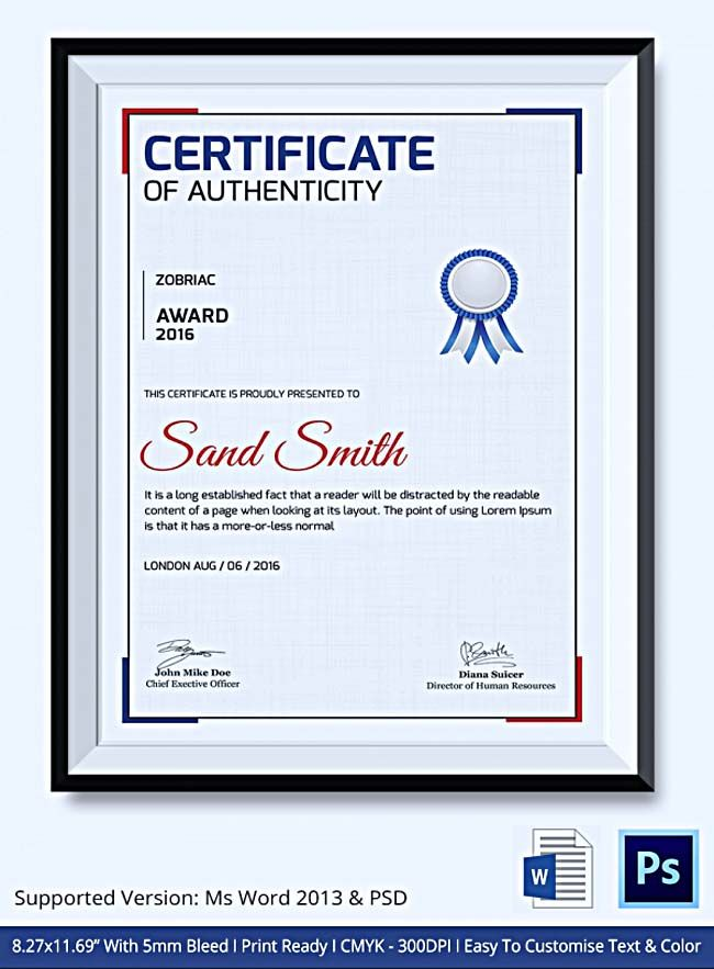 Certificate Of Authenticity Template What Information To Include Certificate Of Authenticity Tem Certificate Of Completion Template Templates Certificate