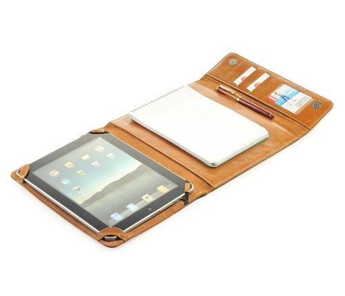 Ipad Portfolio case Full Grain cowhide Leather with Notepad
