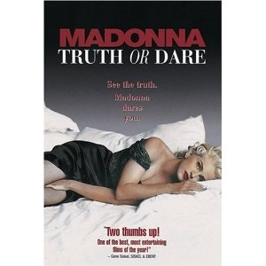 """Truth or Dare, an engaging behind-the-scenes look at the pop star's Blonde Ambition tour, is a feature-film advertisement for herself that Roger Ebert cleverly dubbed """"an authorized invasion of privacy."""" How much of it is calculated and how much of it is genuine, what Madonna chooses to reveal about herself and what she actually reveals in the process, are up to the viewer to decide."""