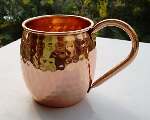 street craft moscow mule mug 100 pure solid copper mugs 16 oz unlined - Moscow Mule Copper Mug