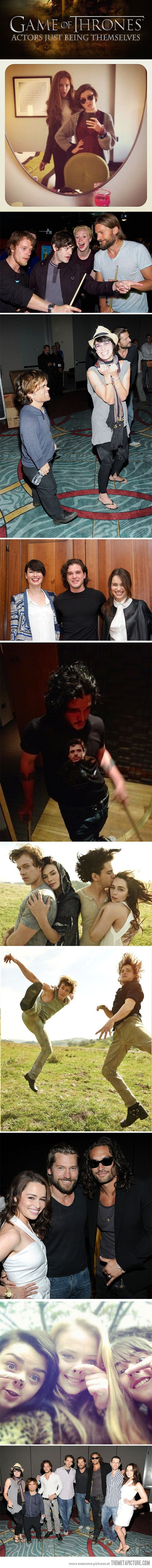 Game of Thrones actors just being themselves... - The Meta Picture