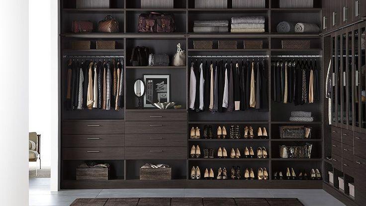 Espresso Finish - Modern Style - Closet Ideas - Container Store - Home Organization