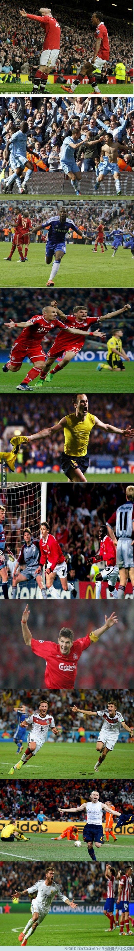 Gol de Gotze ante Argentina en el pasado Mundial Gol de Iniesta ante Holanda en el Mundial de Sudáfrica Gol de Ramos en el 93 ante el Atlet