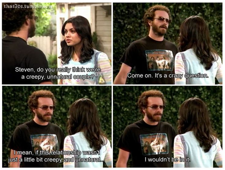 Jackie and Hyde -- That 70s Show. Never quite believed it , myself.