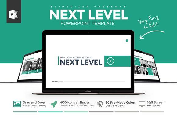 Next Level Powerpoint Template by Slidedizer on @creativemarket