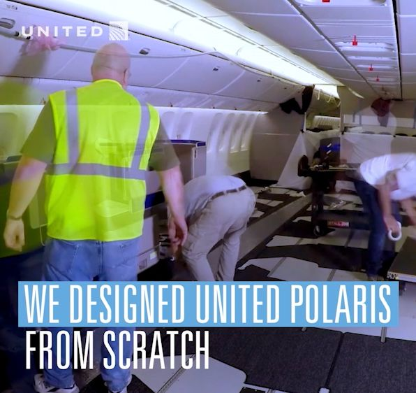 United Polaris Business class: flat-bed seats, privacy dividers, aisle access and more.