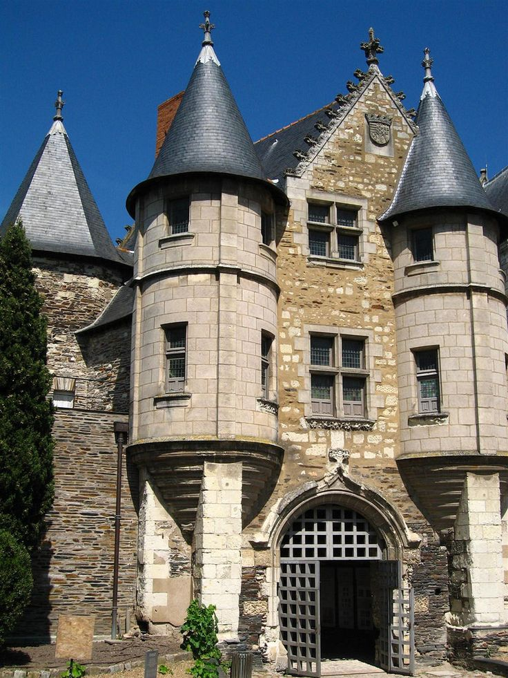 Gateway.Chateau d' Angers, Loire Valley, France.