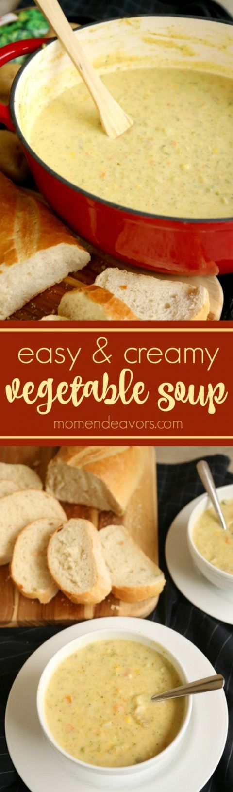 Creamy Cheesy Vegetable Soup