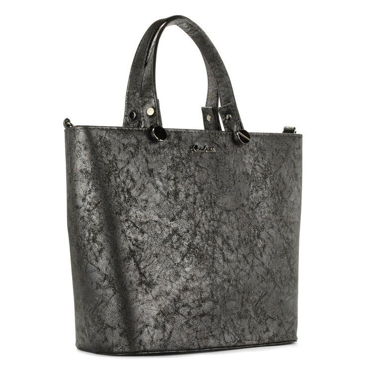 Abakus szürke női táska osztott belső térrel, tartozék vállpánttal  #bags #fashionbags