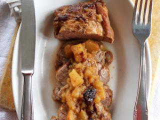 Filetto di maiale alle mele e prugne
