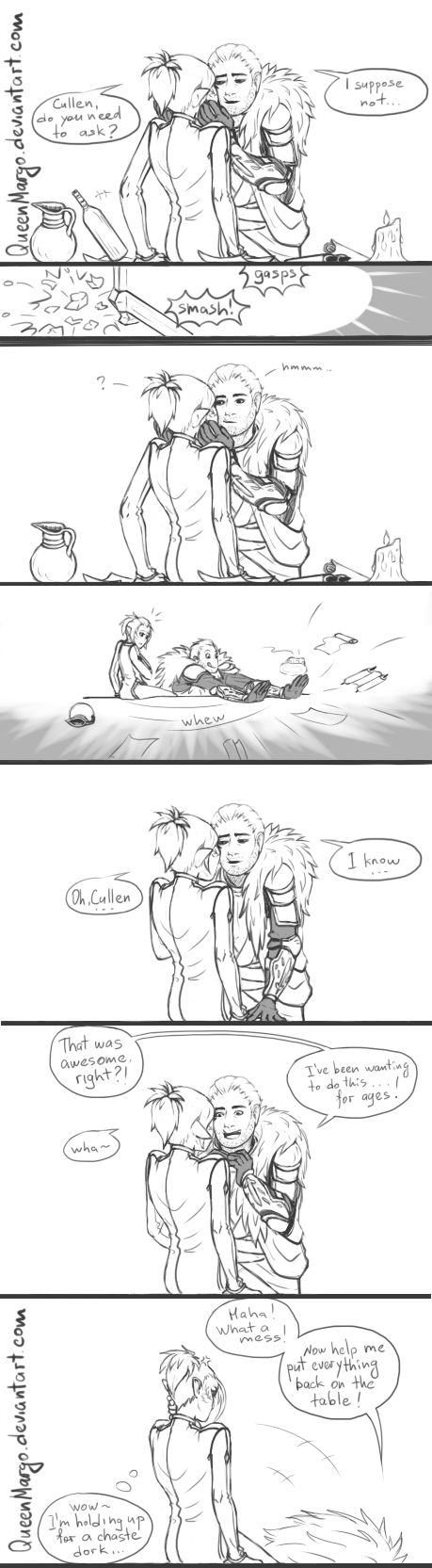 DA Inquisition: awkward Cullen by QueenMargo on DeviantArt