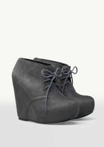 Suede Platform Wedge Booties | Shoes | rue21 @Amy Leis hedman these remind me of ur shoes!