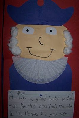 cotton balls + coffee filters = george washington! - Re-pinned by @PediaStaff – Please Visit http://ht.ly/63sNt for all our pediatric therapy pins