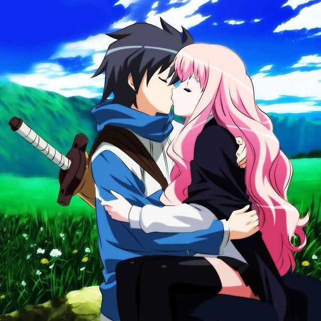 Saito y Louise. Waaah ese capítulo es genial