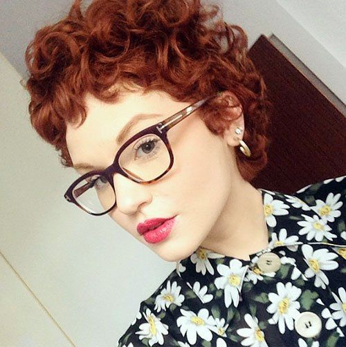 red curly pixie                                                                                                                                                                                 More