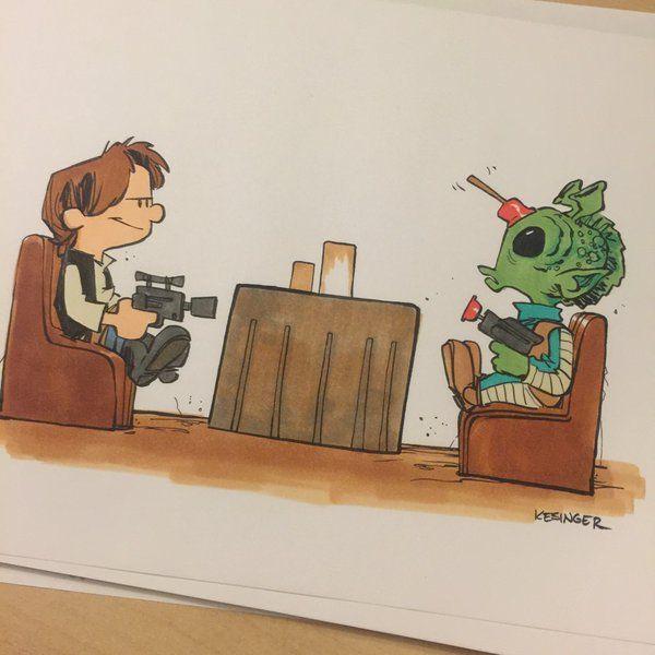 Han shots first! Art by brian kesinger