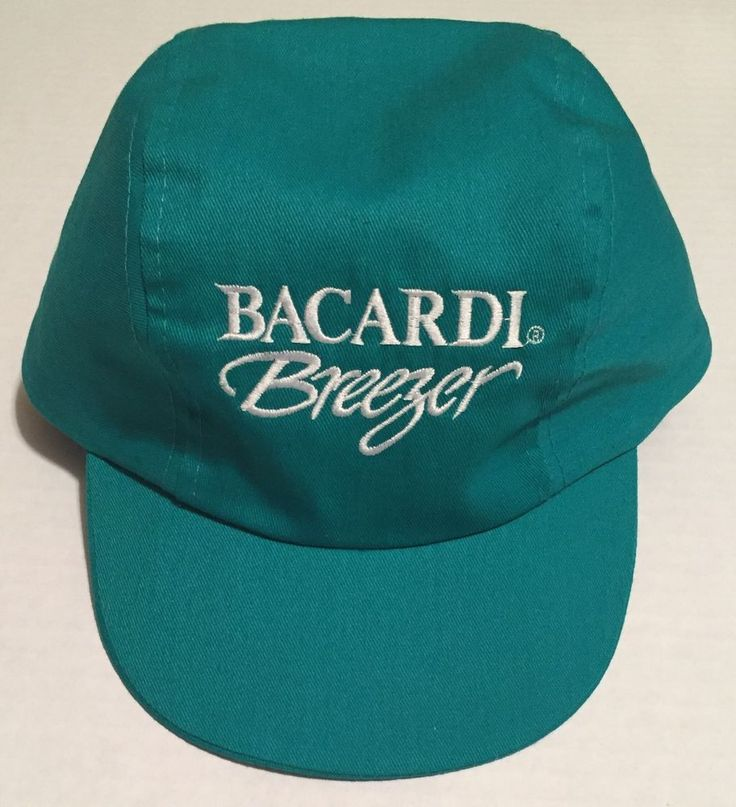 Vtg Bacardi Breezer Hat Alcohol Pop Wine Cooler 90s 1990s Fruit Flavor Drink Cap #TriangleHeadwear