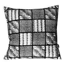 Dzianinowy patchwork - poducha 45cm, dodatki - poduszki, poszewki