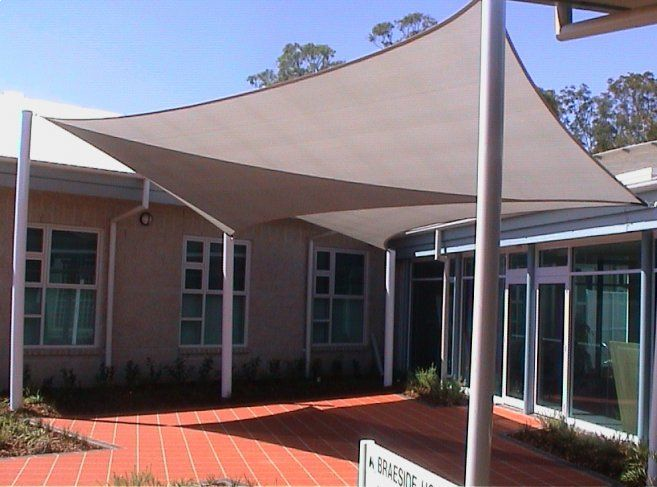 Shade sails tarpaulins tarps tension structures for Sun shade structure