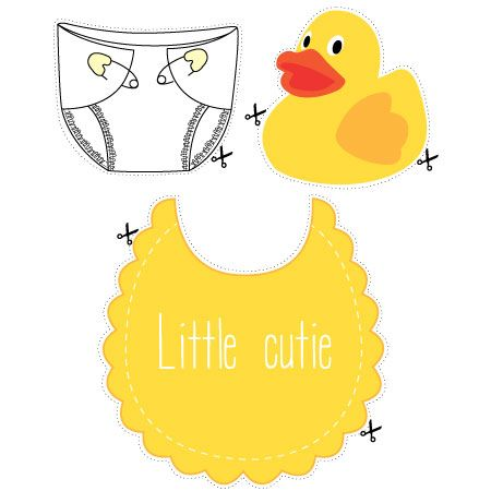 Download and print our free baby shower photo props - a fun baby shower idea for a yellow party theme.