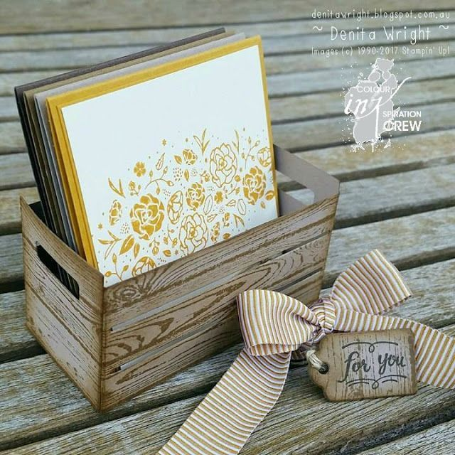 Wood Words, Wood crate thinlits, Stamping up, mini cards