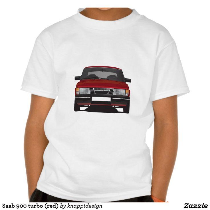 Saab 900 turbo (red) tshirt  #saab900 #sweden #sverige #svenska #swedish #bil #auto #car #troja #tshirt #classic #paita #turbo