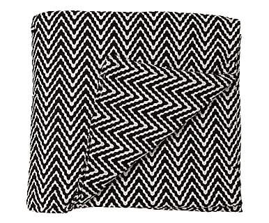 Copriletto in cotone Swell bianco/nero, 260x260 cm