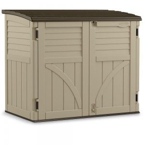 Generator: Suncast storage shed can be used to build your own generator enclosure.