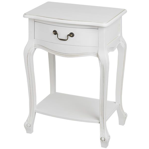 White room lamp table or bedside table