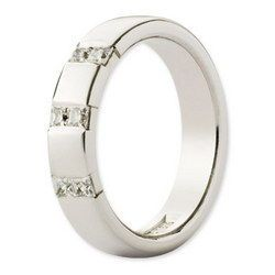 Classic Timanttisormus Siri valkokulta Leveys: 4,5mm I Diamond ring Siri White Gold Width: 4,5mm