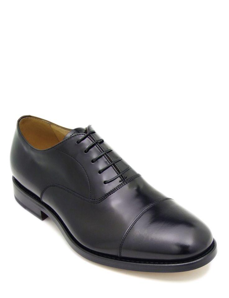 #Laceup #shoe in brushed black calfskin leather. Featuring plain uppers and leather sole. The refined intense black colour and the rounded #shape, becomes a symbol of sophisticated timeless #style. Its authentic character makes it ideal for a formal #wear with a touch of #versatility for less important occasions.