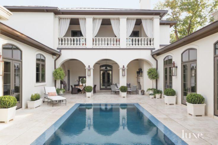 5. A Mediterranean Estate Exudes Old-World Style  Location: Houston, TX  Completed by: Aichler Associates | Maison Maison | D.L. Doyle Construction Co. | Prewett, Read & Associates