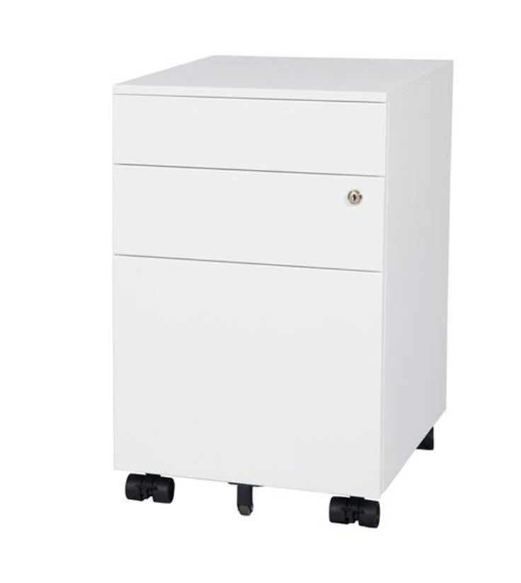 Smart Mobile Pedestal storage for office workspace design with white powercoat. 2Store Range. #storage #office