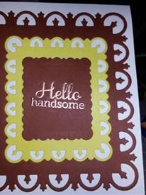 Handsome handmade greeting card for a gentleman