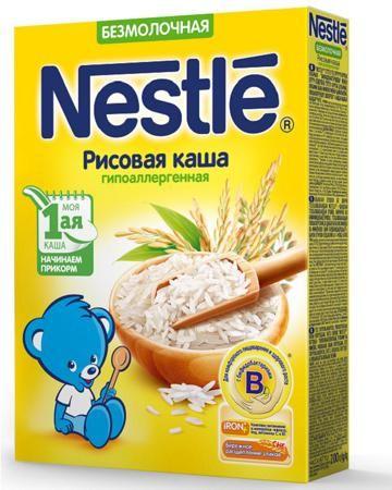 Nestle безмолочная рисовая с бифидобактериями 200 г  — 101р. --- Подойдет деткам с 4 месяцев. Содержит витамины и минералы. Упаковка: картонная коробка. Вес: 200 гр.