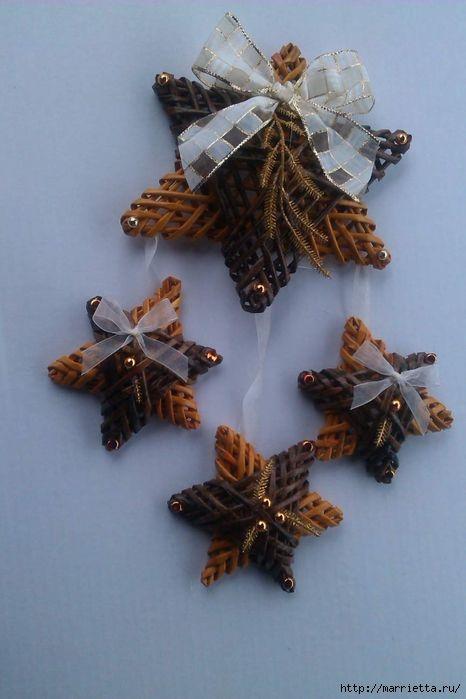 плетение из газет. рождественские идеи (44) (466x700, 200Kb)