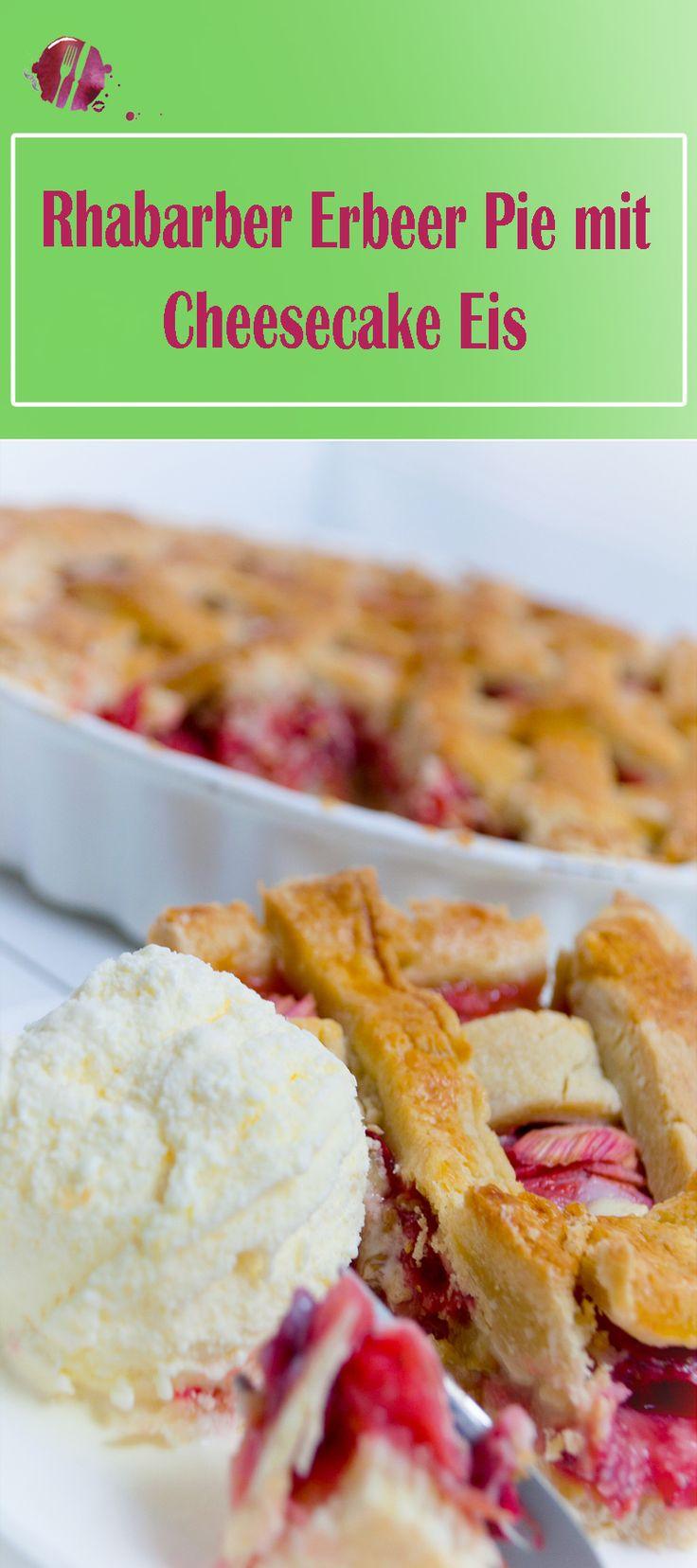 Bald beginnt die Rhabarber und die Erdbeer Saison. Mit deisem Rezept für die Erdbeer Rhabarber Pie habt ihr eine tolle Möglichkeit, diese auf eine andere Art zu kombinieren. Das Cheese Cake Eis rundet den Geschmack ab.  Das Rezept ist aus einer Blogger-Zusammenarbeit aus der Schweiz entstanden. Unter dem #foodfrühling2017 könnt ihr noch viele tolle Rezepte entdecken. Bunte Grüsse aus dem foodwerk.ch Caro & Tobi . . . . Rhabarber, Erdbeeren, Pie, backen, Frühling, Rezept