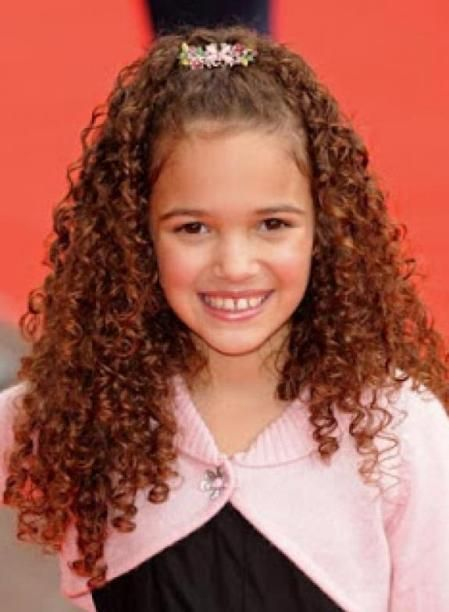 Hairstyles For Girls With Curly Hair 4