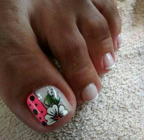 Different ideas for French Pedicure
