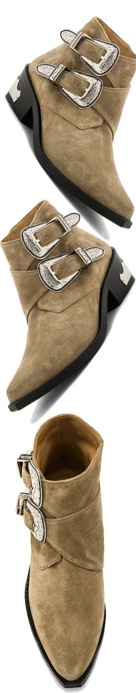 TOGA PULLA DOUBLE BUCKED SUEDE BOOTIE