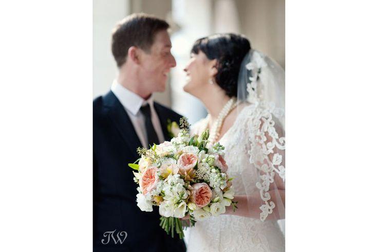 Bridal bouquet from Flowers by Janie @flowersbyjanie captured by Tara Whittaker Photography | Calgary wedding photographer