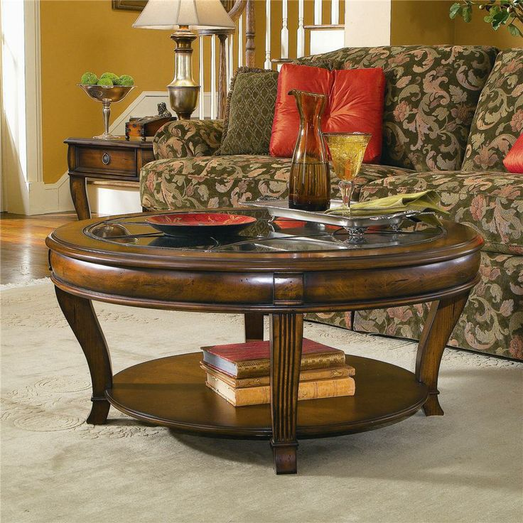 42 Inch Brookhaven Round Cocktail Table By Hooker Furniture